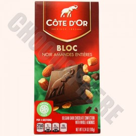 Cote d'Or Cote d'Or Dark with Whole Almonds Bar