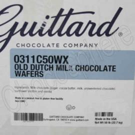 Guittard Old Dutch Milk Chocolate Wafers - 50 lb