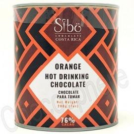Sibo Orange Hot Drinking Chocolate Canister - 200g