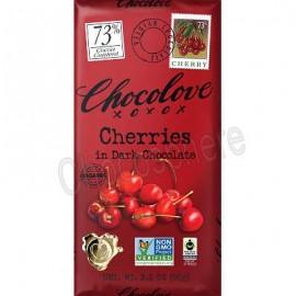 Chocolove Organic Dark with Cherries Bar 3.2oz