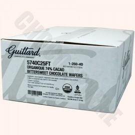 Guittard Organic Extra Dark Wafers, 25 lb box