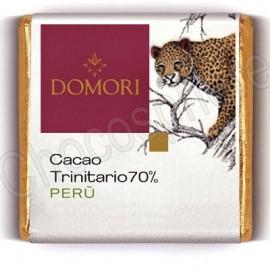 Domori Trinitario Peru Dark Chocolate Tasting Square 70% Cacao