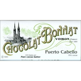 Bonnat Puerto Cabello  Bar 100g