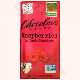 Chocolove Raspberries Bar 3.2oz