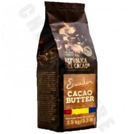 Republica del Cacao Ecuadorian Cocoa Butter Shavings - 1.5Kg Bag