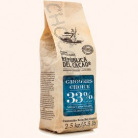 Republica del Cacao Grower's Choice 33% Cacao Milk Chocolate Buttons