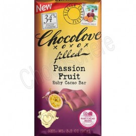 Chocolove Passion Fruit Filled Ruby Cacao Bar