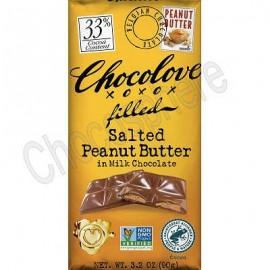 Chocolove Salted Peanut Butter Milk Chocolate Bar 3.2oz