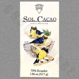 Sol Cacao Ecuador Dark 70% Chocolate Bar - 1.86oz