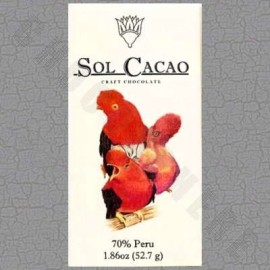 Sol Cacao Peru Dark 70% Chocolate Bar - 1.86oz