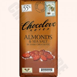 Chocolove Almonds and Sea Salt Bar 3.2oz