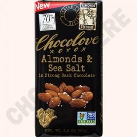 Chocolove Strong Dark Almonds and Sea Salt Bar 3.2oz