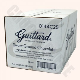 Guittard Sweetened Ground Chocolate, 25 lb box