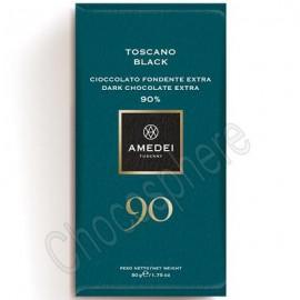 Amedei Toscano Black 90% Dark Chocolate Bar 50g