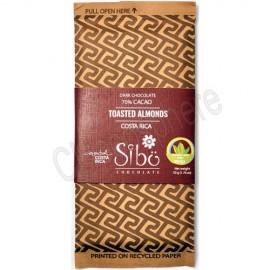 Sibo Dark Chocolate with Toasted Almonds Bar – 50g