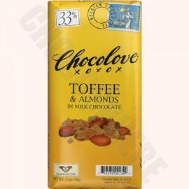 Chocolove Toffee-Almond Bar 3.2oz