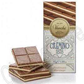 Venchi Cremino 1878 Tablet 110g - Layered milk, white, gianduja