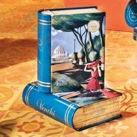 "Venchi Chocoviar 'Roma' Metal ""Mini-Book"" Assorted 6-piece Gift Box"