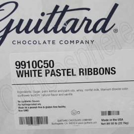 Guittard White Pastel Ribbons 50 lb box